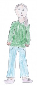 Frau Bartsch gemalt von Johanna