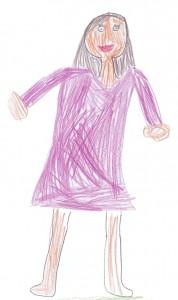 Frau Eckerth gemalt von Karina